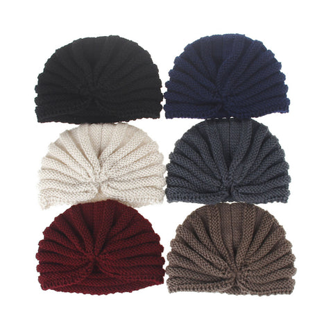 European Style Women Casual Solid Knitted Beanies Hat Earmuffs Cap Female Autumn Winter Outdoor Soft Warm Thicken Skullies Cap