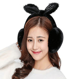 Elegant Women Rabbit Fur Winter Warm Earmuffs Boys Girls Ear Warmer Ear Muffs Femal Hairy Thermal Ear Covers Lady Ear Lap