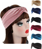 Hair Accessorie Velvet Twist Head Band Female Earmuffs Ear Warmers Scrunchy Twist Hair Clip Turban Headband Bandana Head Bandage