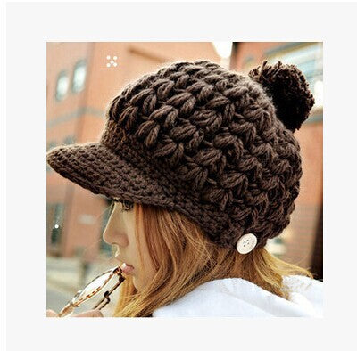 Free shipping Wool hat female Lovely han edition winter warm earmuffs knitting fashion Korea winter hats