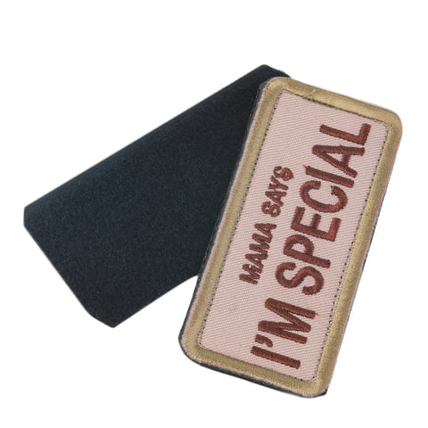 Army Green Word Pattern Magic Chapter Paste Epaulet Self Adhesive Stick 9*4CM  Hot