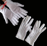 JECKSION 2016 New White Cotton Formal Gloves Work for Catering band Parades Inspection Magician Police Etc  Shipping #LSW