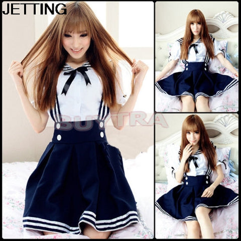 2 colors costumes Women's Girl Cosplay Costume Maid Anime Dress sailor uniform cosplay accessories