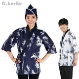 Japanese Chef Uniform Cook Jackets Women And Man Wear Sushi Suits Restaurant Unisex Working Kimono Blouse New DAJ9291
