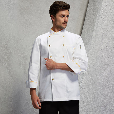 2017 autumn full sleeved chef service hotel working wear restaurant work clothes tooling chef uniform chef jackets