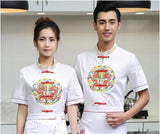 2017 autumn Short-sleeved Chef service jackte Hotel working wear Restaurant work clothes Tooling uniform cook Tops jackets