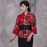 women Japan Style chef uniform Japanese Chef service Kimono working wear Restaurant work clothes Tooling uniform Chef Jackets