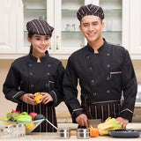 wholesale Winter  long-sleeve Chef service Double-breasted Hotel working wear Restaurant chef jackets high quality Chef uniform
