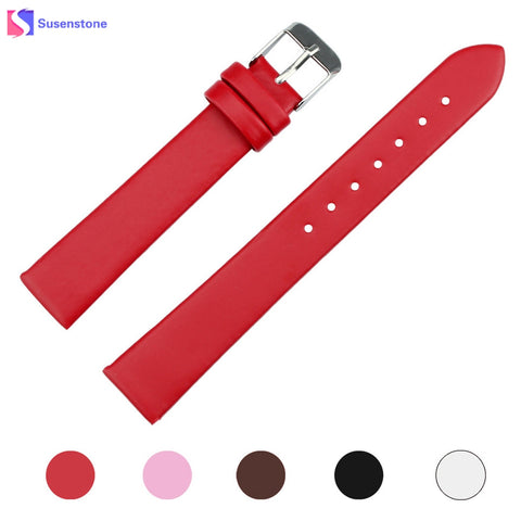 Hot Sale 16mm PU Leather Watch Strap Band Women Men WristWatch Replacemen Accessory Black/White/Brown/Pink/Red