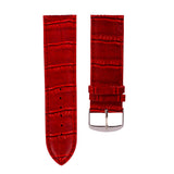 22mm Hot Sale High Quality PU Leather Strap Replacement Accessories Universal Wrist Watch Band Watchband