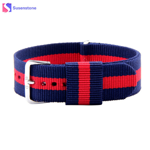 Fashion Canvas Watchband 20mm Wrist Watch Band Replacement Straps 9 Style Women Men Sports Watches Strap Accessory