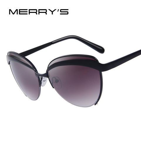 MERRY'S Fashion Women Butterfly Sunglasses Classic Retro Eyebrows Frame Shades UV400