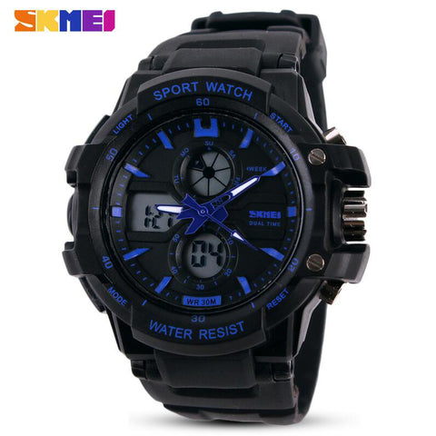 SKMEI Brand New Children Watch Outdoor Sports Kids Boy Girls LED Digital Alarm Waterproof Wristwatch Children's Watches