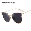 MERRY'S Fashion Women Sunglasses Classic Brand Designer Sunglasses Coating Mirror Flat Panel Lens Shades UV400