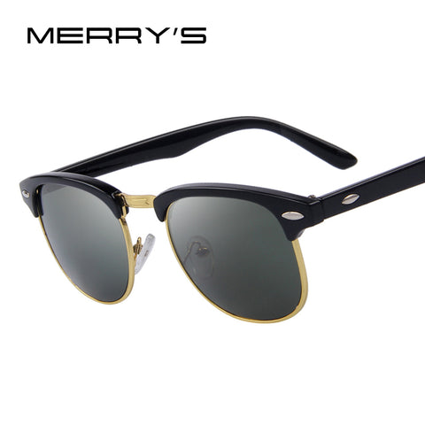 MERRY'S Fashion Women Retro Rivet Sunglasses Classic Brand Designer Unisex Sunglasses UV400