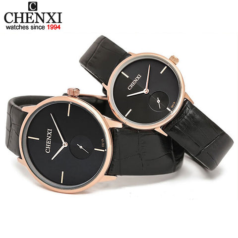 Hot CHENXI Brand Leather Strap Classic Men's Business Women Quartz Watch Man Rose Gold Ultra-Thin Dial Boys girls Lovers Watches