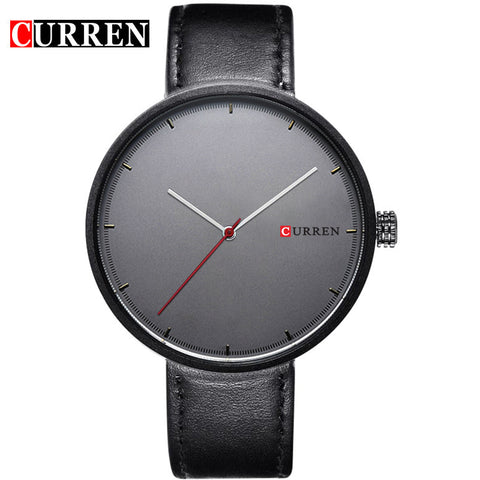 Simple Creative Brand Quartz watches Men's Leather strap Causal Wristwatch Unisex Design Relojes hombre montre New Curren