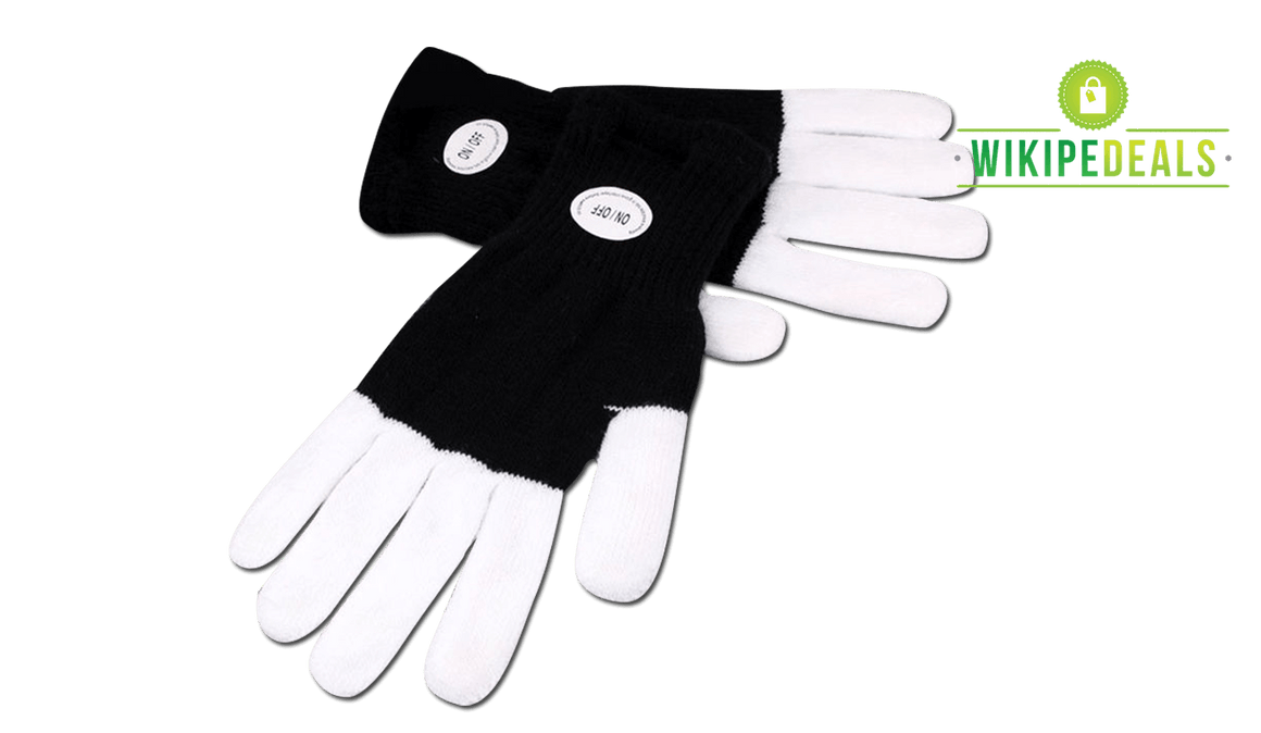 LED Flashing Party Gloves