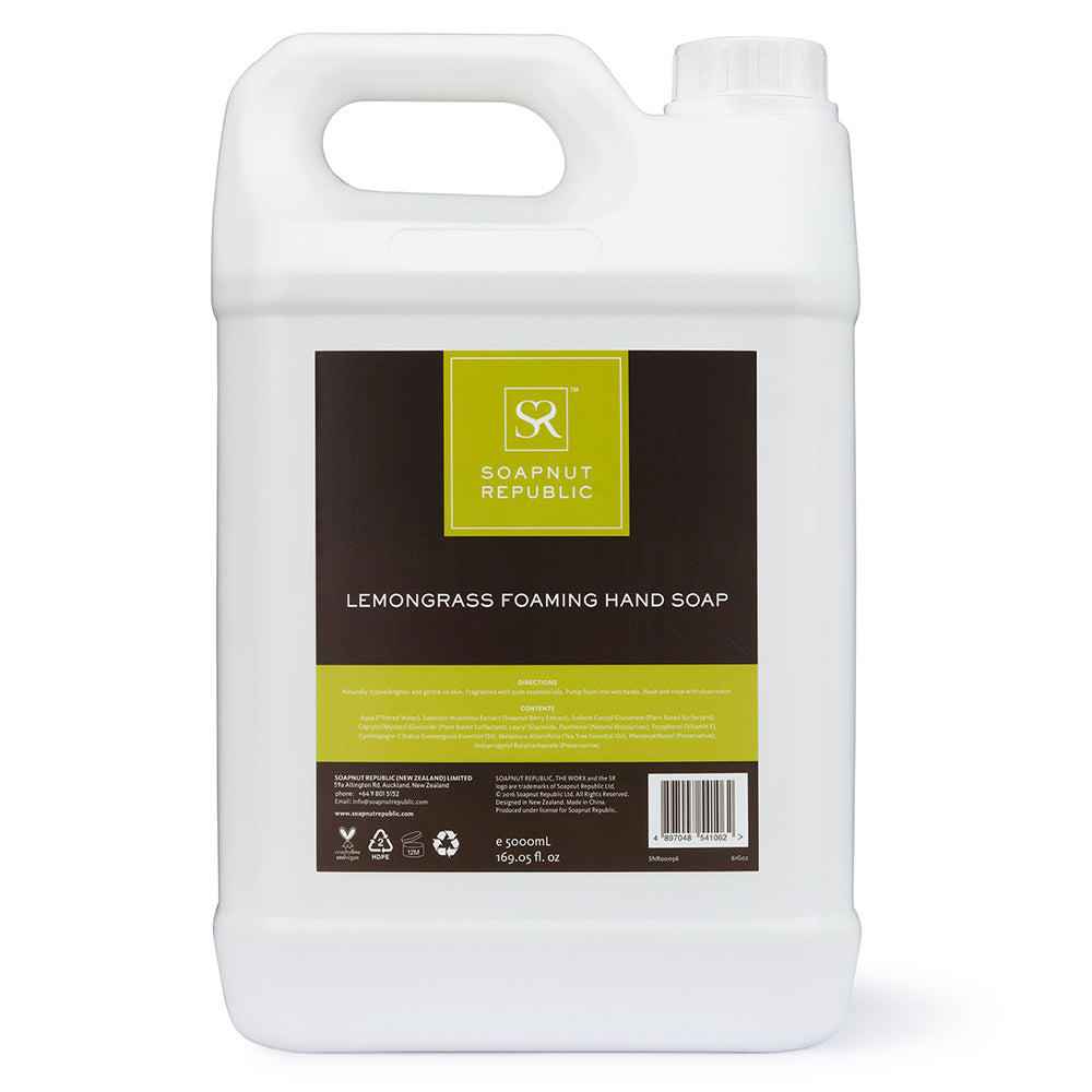 Foaming Hand Soap - Lemongrass Essential Oil (5L) | 檸檬草精油泡沫洗手液 (5L)