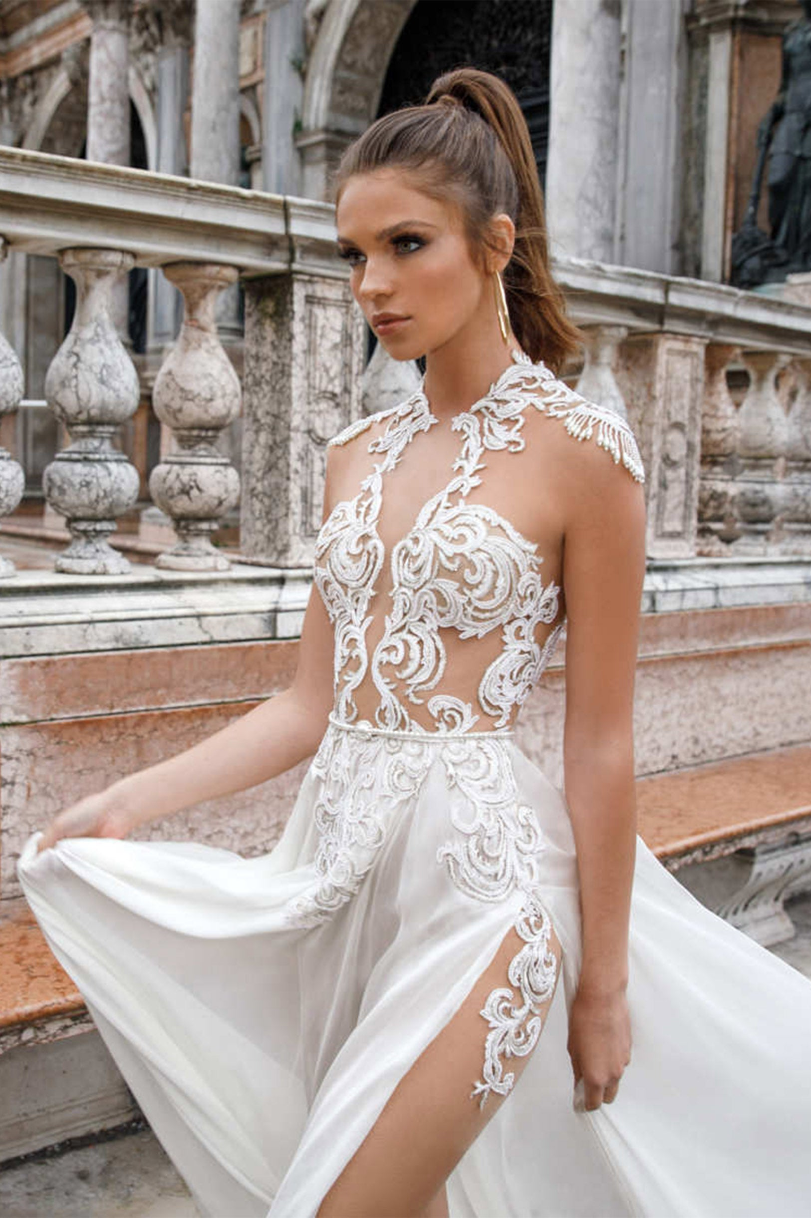 Surprise Jewel Lace Wedding Gown The Lovely Find
