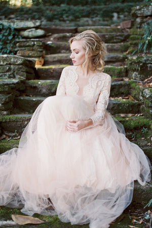 Long Sleeves A-line Wedding Gown