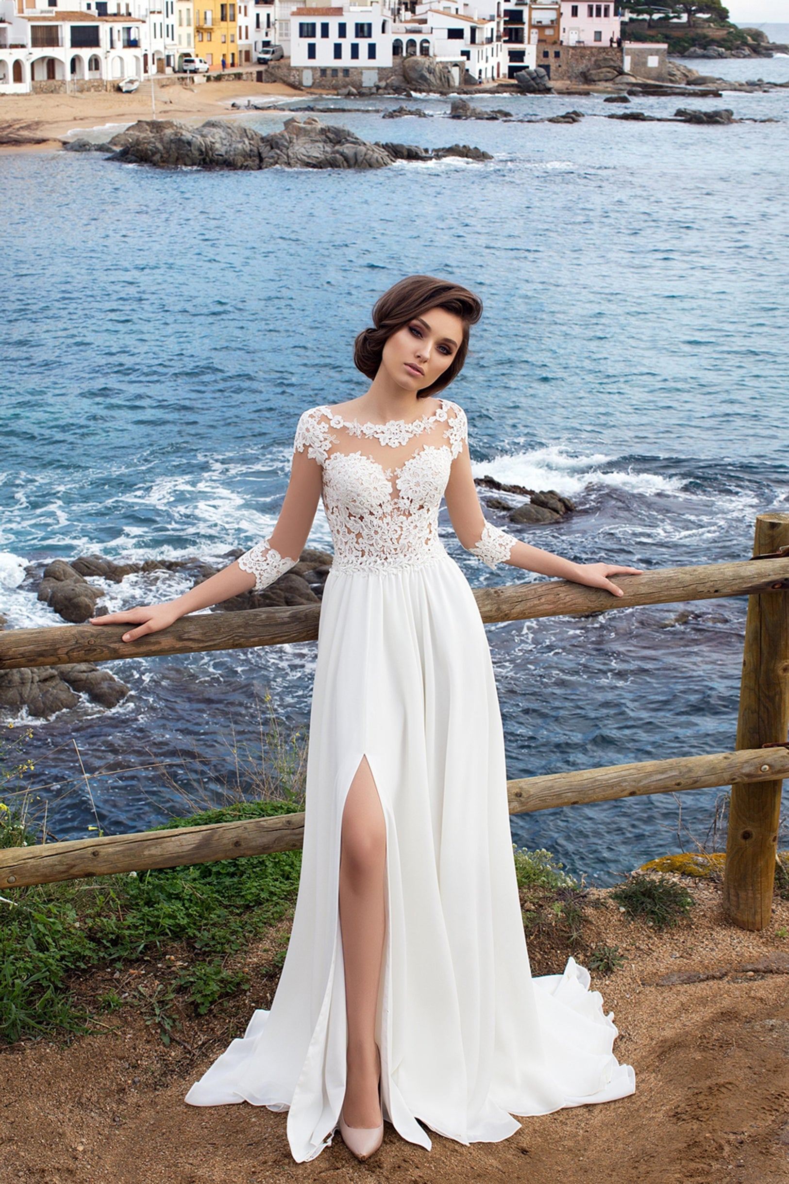 Bohemian Wedding Dress   Boho Wedding Gown  a9346263ea92