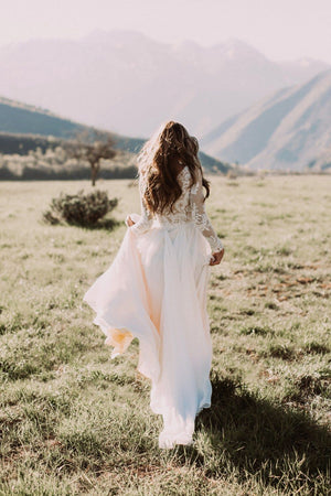 Bohemian Beach Wedding Dress