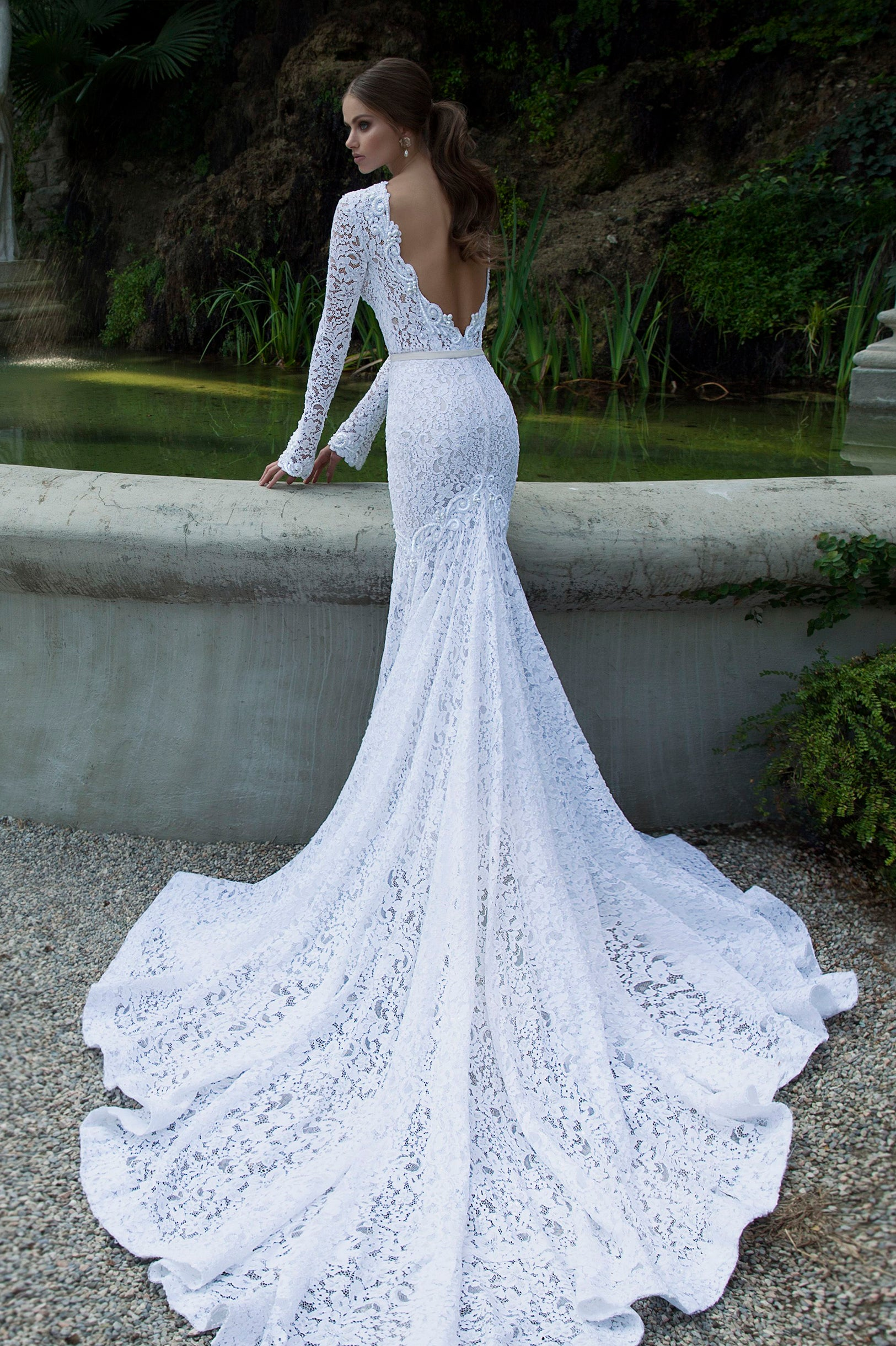 River Lace Wedding Dress | The Lovely Find