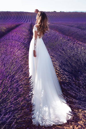 Hippie Maxi Lace Wedding Gown