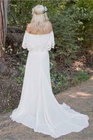 Doriana Off Shoulder Wedding Gown