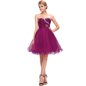 Short Sequined Bridesmaid Dress