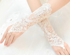 Beth Bridal Lace Gloves