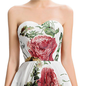 Short Floral Bridesmaid Dress