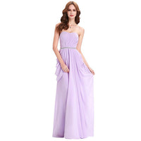 Long Strapless Bridesmaid Dress