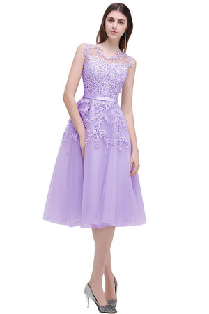 Robe Demoiselle D'honneur Cheap Lace Top Short Bridesmaid Dresses 2017 Sheer Lavender Dress for Wedding Party Vestido Madrinha
