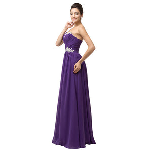 Sequined Tube A-line Bridesmaid Dress