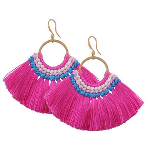 Indonesian Tassel Earrings