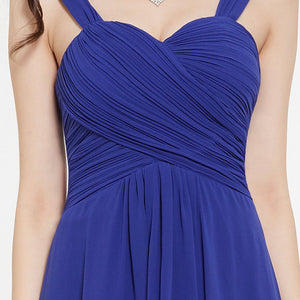 Pleated Chiffon Bridesmaid Dress