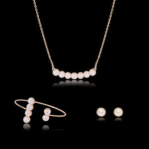 Necklace Earrings Bridal Accessories Set