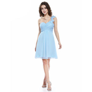 Short One-Shoulder Bridesmaid Dress