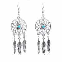 Dreamcatcher Loop Earrings | Bohemian Earrings