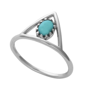 Elephant Turquoise Ring Set