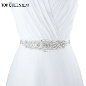 Zoe Crystal Rhinestones Wedding Belt