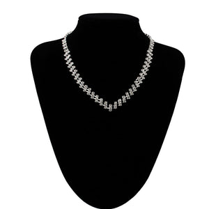 Prom Wedding Bridal Jewelry Crystal Rhinestone Necklace Earring Sets D