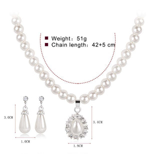Queen Diana Necklace and Earrings Set