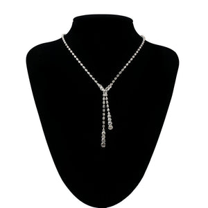 Prom Wedding Bridal Jewelry Crystal Rhinestone Necklace Earring Sets H