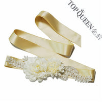 Flower Bridal Sash