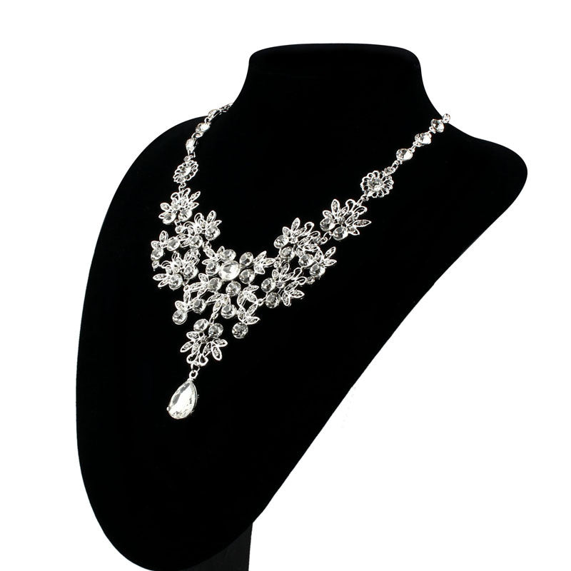 Prom Wedding Bridal Jewelry Crystal Rhinestone Necklace Earring Sets F -  The Lovely Find 13279c895d85