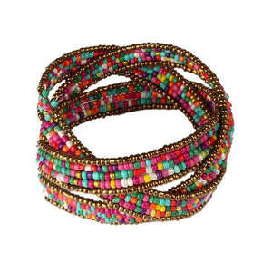 Lady Bohemian Beaded Bangle