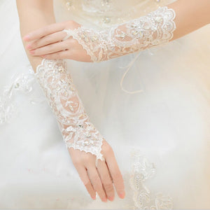 Ivory Short Bridal Gloves